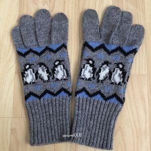 Vera Bradley Knit Mittens w/Penguins
